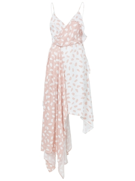 The Webster x Off-White exclusive brushed-pattern draped dress PINK