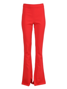 Bright red High-waisted Flared Pant