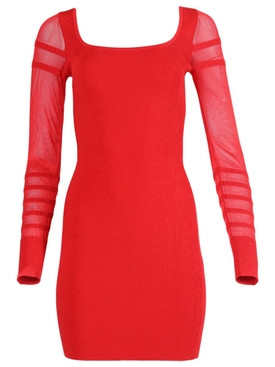 Rouge Knit Mini Dress