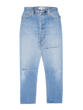 Re/done - High Rise Ankle Crop Jeans - Women