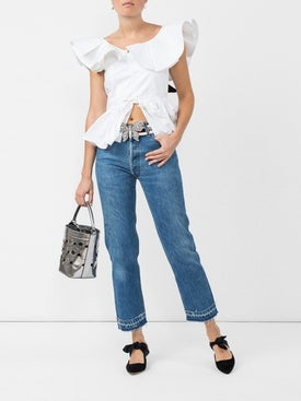 Re/done - Stove Pipe Released Hem Jeans - Women
