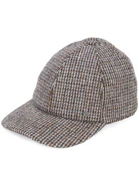 Maison Michel - Tiger Tweed Cap Brown - Women