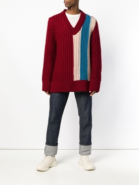 oversized chunky stripe sweater