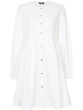 flared shirt dress WHITE
