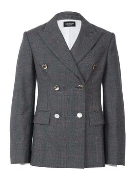 check wool blazer