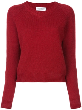 Mila V-neck sweater RED