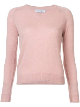 Alexandra Golovanoff - Mila V-neck Sweater Blush - Women