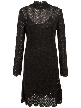 a-line dress BLACK