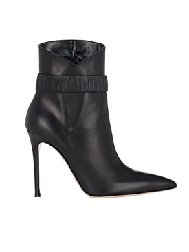 leather ankle bootie