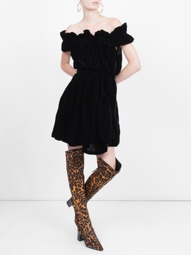 leopard over-the-knee boots