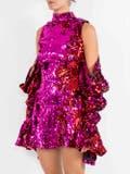 Halpern - Sequin Embellishe Cold-shoulder Mini Dress - Women