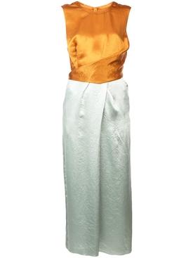 sarina satin wrap dress