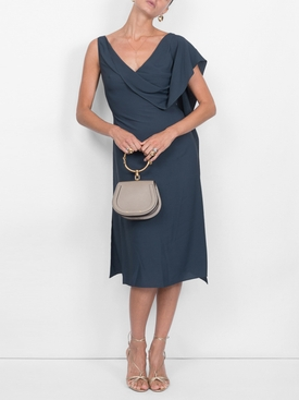 etta drape front dress
