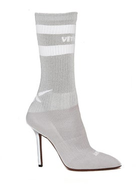 Vetements - Grey Reflective Sock Pumps - Women