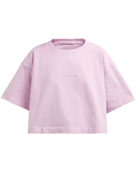 Acne Studios - Clylea Embossed Crop Top Pink - Women