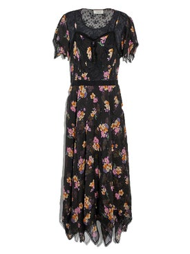 Coach - Embellished Forest Floral Print Dress - Women