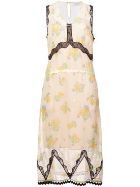Coach - Forest Floral Print Sleeveless Dress - Women