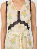 Coach - Forest Floral Print Sleeveless Dress Yellow - Women