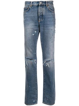 Givenchy - Distressed Ripped Knee Jeans - Men