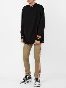 side stripe pants KHAKI