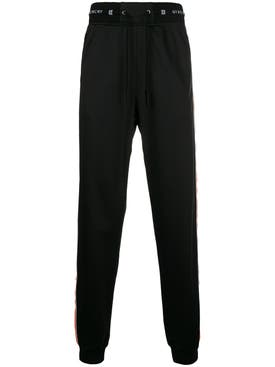 Givenchy - Elasticated Waist Trousers Black/orange - Men