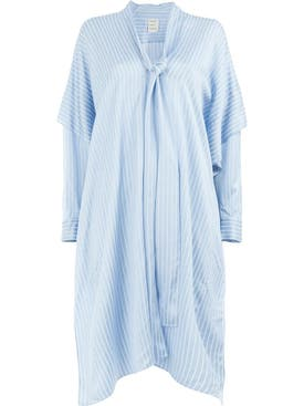 Maison Rabih Kayrouz - Woven Etamine Dress Blue - Women