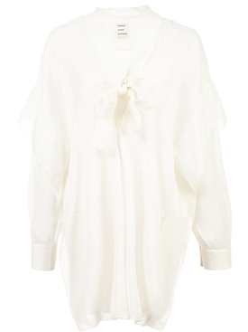 Assymetric blouse WHITE