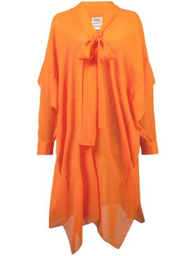 Maison Rabih Kayrouz - Woven Etamine Dress Orange - Women