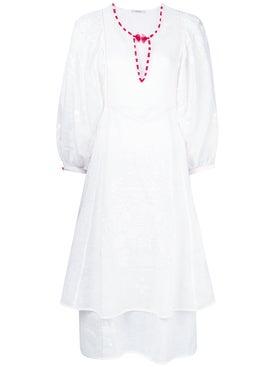 Vita Kin - White Peacock Midi Dress - Women
