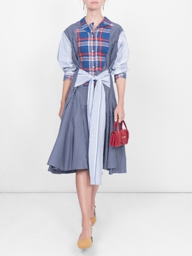 patchwork dress BLUE