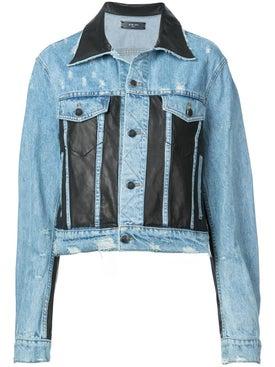 Amiri - Leather Panel Trucker Jacket - Women