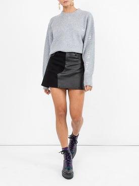 Amiri - Leather Mini Skirt - Women