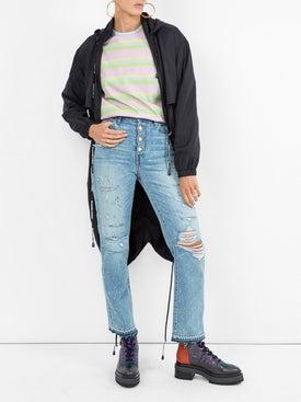 Amiri - Crystal Studded Straight Jean - Women