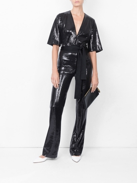 Galaxy sequin jumpsuit BLACK