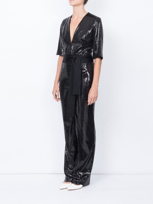 discount up to 60% moderate cost wholesale Galvan Galaxy Sequin Jumpsuit | The Webster