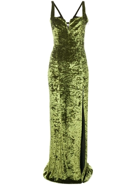 Solstice velvet dress AVOCADO