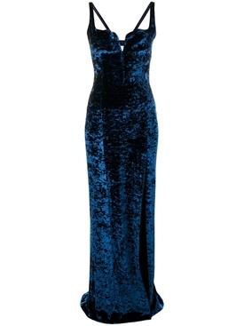 Solstice velvet dress SAPPHIRE