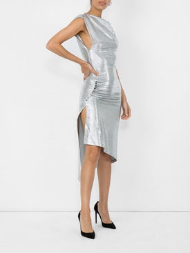 Paco Rabanne - Metallic Fitted Dress - Women