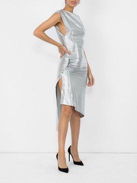 Paco Rabanne - Metallic Fitted Dress - Women