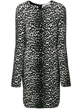 animal print longsleeved dress