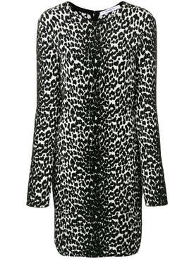 Givenchy - Animal Print Longsleeved Dress - Women