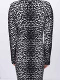 Givenchy - Animal Print Longsleeved Dress - Women