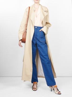 sleeveless split neck blouse PINK