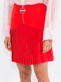 Givenchy - Zip Front Pleated Mini Skirt - Women