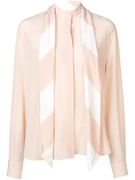 Givenchy - Neck Tied Blouse Neutral - Women