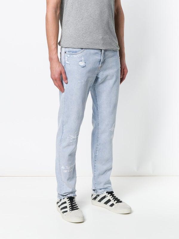 ab53f783 Off-white - Distressed Firetape Jeans - Men