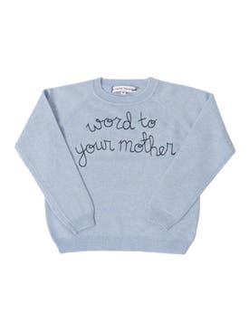 "Lingua Franca - ""word To Your Mother"" Childrens Sweater - Kids"