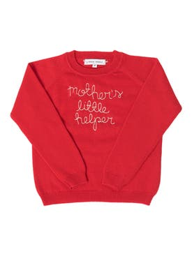 "Lingua Franca - ""mothers Little Helper"" Childrens Sweater - Kids"