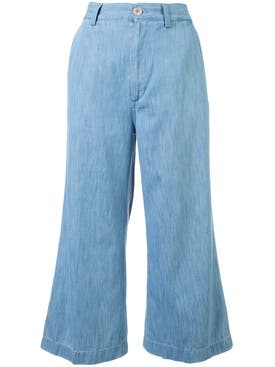 Gucci - Embroidered Denim Culottes - Women