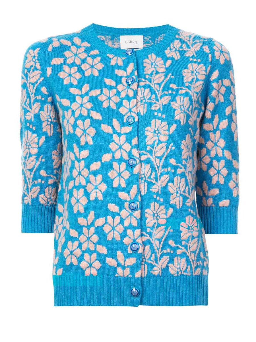 Barrie FLORAL EMBROIDERED CARDIGAN